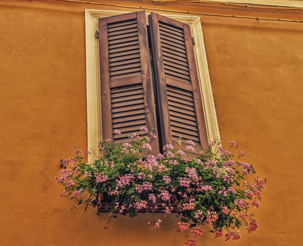 Mediniai langai, medinės durys